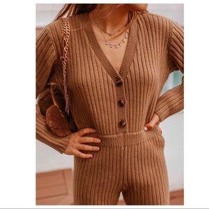 Zara Short Knit Jumpsuit